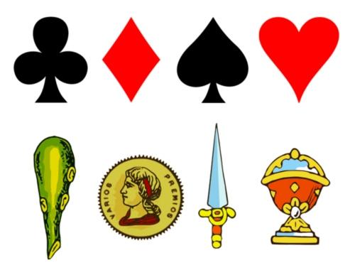 historia naipes baralho cartas